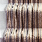 Jazz Stripe stair runner with whipped edge - tainted love - 100% wool loop