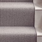 100% wool loop Pin Stripe stair runner with whipped edge - sable/olive