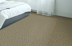 Zoffany stain resistant  carpet design Crackle - Old Gold