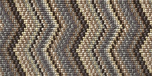 100% 3ply wool loop Deco Zigzag - Marylebone