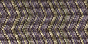 100% 3ply wool loop Deco Zigzag - Wimbledon
