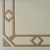 Arabesque 100% wool Ultimate handcarved inlaid  border design