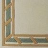 Cable 100% wool Ultimate handcarved inlaid  border design