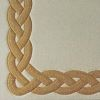 Celtic  100% wool Ultimate handcarved inlaid  border design