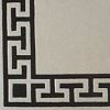 Greek Key 100% wool Ultimate handcarved inlaid  border design