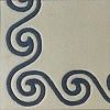 Scrolls  100% wool Ultimate handcarved inlaid  border design